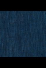 Robert Kaufman Limerick Linen in Indigo, Fabric Half-Yards