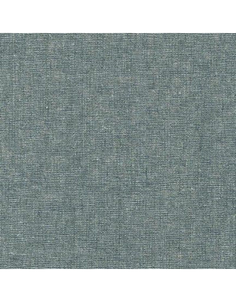 Robert Kaufman Linen, Essex Yarn Dyed Metallic in Storm, Fabric Half-Yards E105-458