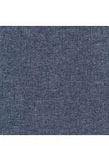 Robert Kaufman Linen, Essex Yarn Dyed Metallic in Midnight, Fabric Half-Yards E105-1232