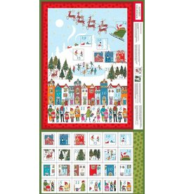 Andover Fabrics Wonderland,  Advent Calendar Panel, 24""