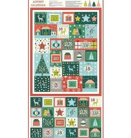 Andover Fabrics Merry,  Advent Calendar Panel, 24""