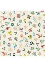 Christmas Collection Merry, Scatter in Eggshell, Dinner Napkin