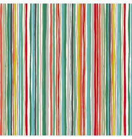 Andover Fabrics Merry, Wavy Stripe in Multi, Fabric Half-Yards TP-1899-T