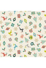 Andover Fabrics Merry, Scatter in Eggshell, Fabric Half-Yards TP-2113-1