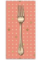 PD's Cotton + Steel Collection Neko and Tori, Ohanadotto in Coral on Unbleached Cotton, Dinner Napkin