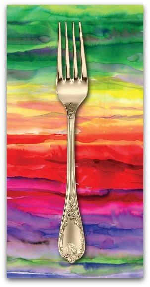 PD's Moda Collection Gradients II, Color Wash in Multi, Dinner Napkin