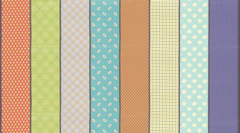 Jen Kingwell Remix Lollies in Surf, Fabric Half-Yards 18152 12