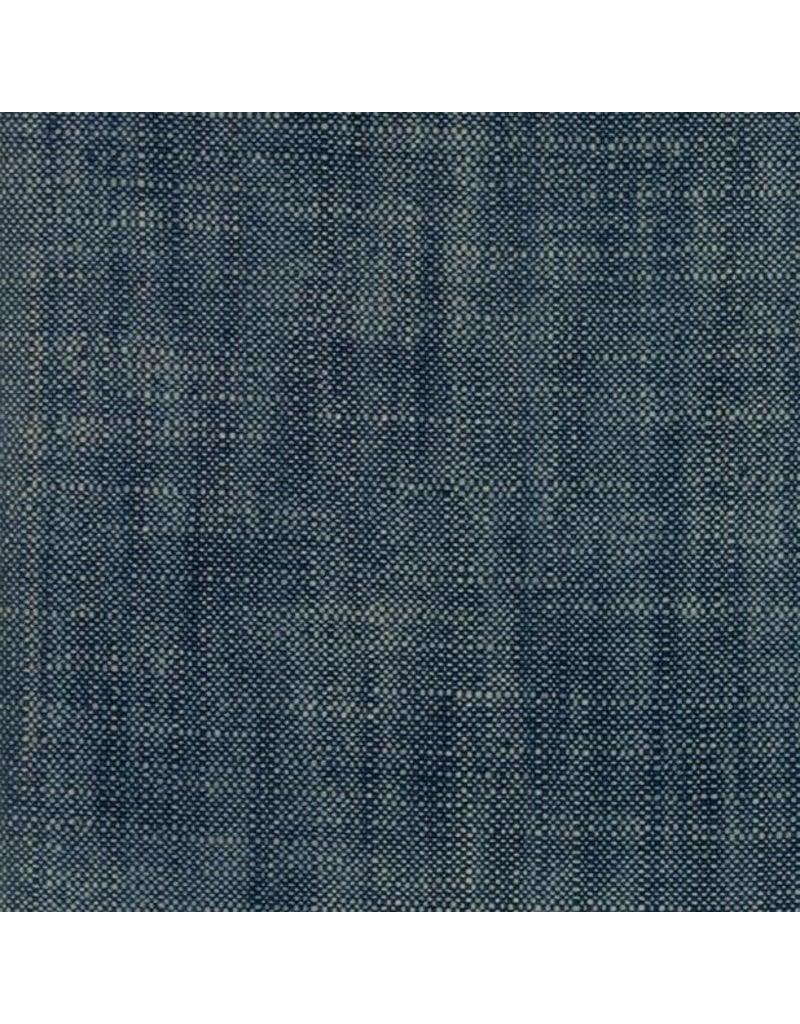 Moda Boro Woven Slub Canvas in Dark Indigo, Fabric Half-Yards 12560 38