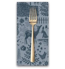 PD's Dear Stella Collection May the Forest Be With You, Moonlit Forest in Slate, Dinner Napkin