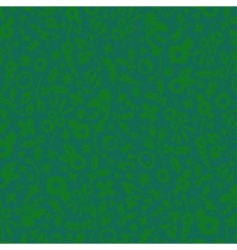 Alison Glass Holiday, Holly in Grinch, Fabric Half-Yards A-9122-G