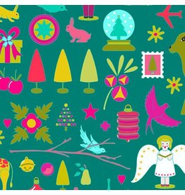 Alison Glass Holiday, Brite in Kitschy, Fabric Half-Yards A-9115-T