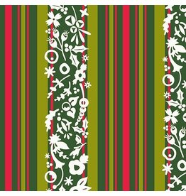 Alison Glass ON SALE-Holiday, Mistletoe in Stripe, Fabric Half-Yards A-9118-G