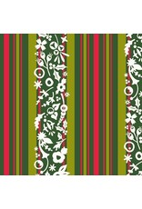 Christmas Collection Holiday, Mistletoe in Stripe, Dinner Napkin