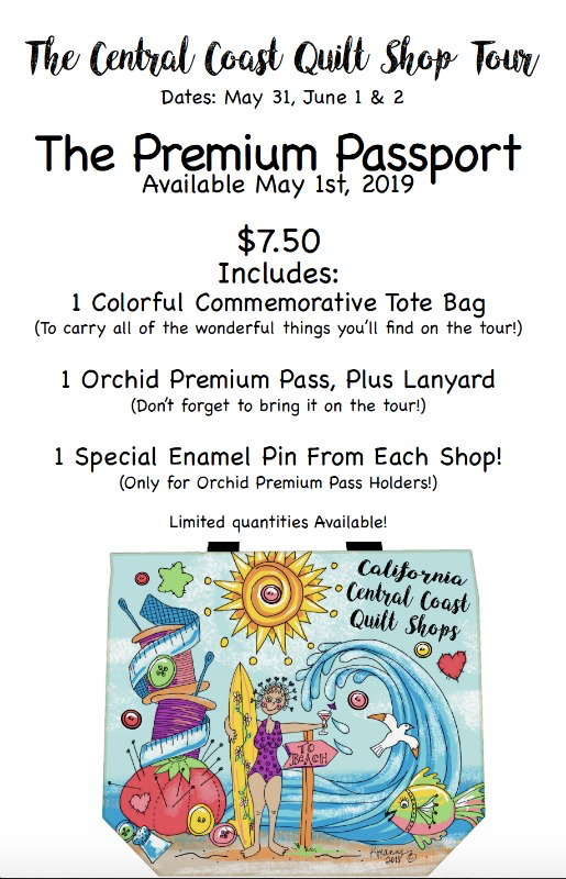 Picking Daisies SOLD OUT-Premium Passport for the 2019 Central Coast Quilt Shop Tour