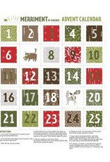 "Gingiber Merriment,  Advent Calendar Panel, 24""  48272 11"