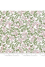 Christmas Collection Merriment, Holly Berries in Snow, Dinner Napkin