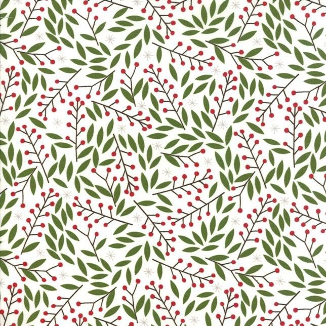 Gingiber Merriment, Holly Berries in Snow, Fabric Half-Yards 48273 11