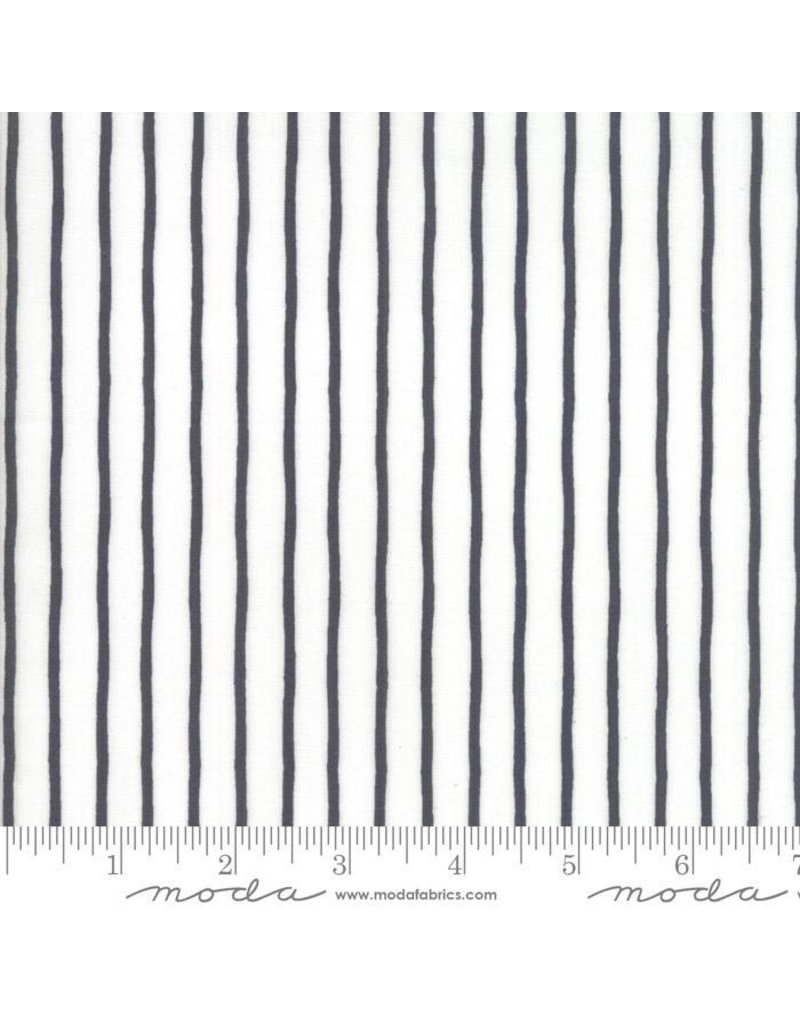 PD's Moda Collection Lollipop Garden, Black and White Stripes, Dinner Napkin