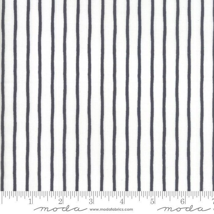 PD's Moda Collection Lollipop Garden, Black and White Stripes, Dinner Napkin