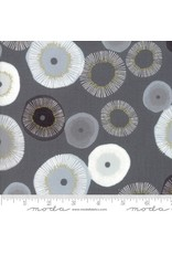 Zen Chic Day in Paris, Blooming in Graphite with Metallic, Fabric Half-Yards 1680 12M