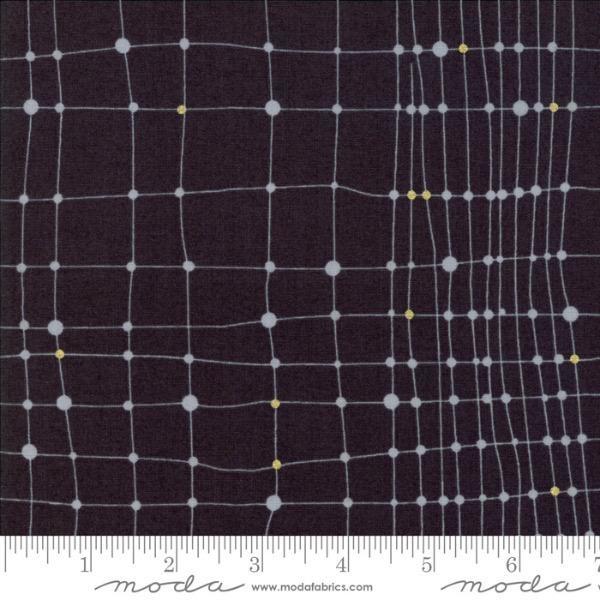 Zen Chic Day in Paris, Net in Charcoal with Metallic, Fabric Half-Yards 1682 14M