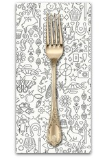 PD's Alison Glass Collection Sun Print Light, Collection in Shadow, Dinner Napkin