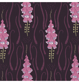Rae Ritchie ON SALE-Magik Sanctuary, Foxglove in Blackberry, Fabric Half-Yards STELLA-SRR860