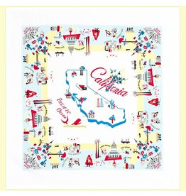 "Red & White Kitchen Co. California Vibe Flour Sack Towel 22"" x 22"""