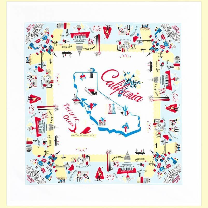 """Red & White Kitchen Co. California Vibe Flour Sack Towel 22"""" x 22"""""""