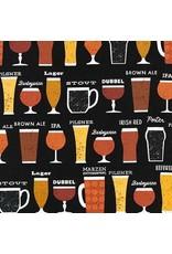 PD's Robert Kaufman Collection Cheers, Beers in Black, Dinner Napkin