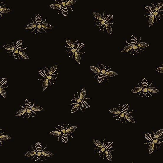 PD's Andover Collection Riviera Rose, Bees in Black, Dinner Napkin