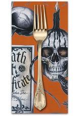 PD's Alexander Henry Collection Haunted House, Dark Magic in Orange Halloween, Dinner Napkin