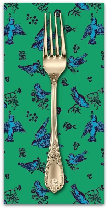 Souvenir, Birds and Love in Jade, Dinner Napkin