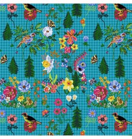 "Souvenir, On My Way in Water, Fabric Half-Yards PWNL001 (ONE 27"" PIECE REMAINING)"