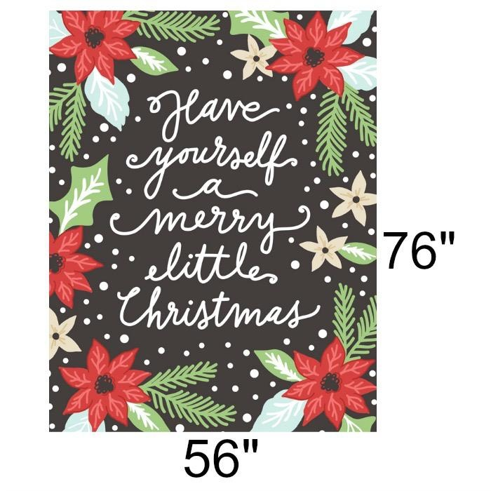 "Gingiber Little Tree, Merry Little Christmas Quilt Panel, 56"" x 74"" Fabric Panel 5090 11P"