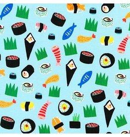 Hello!Lucky Hello Lucky, Sushi in Blue, Fabric Half-Yards AILD-18674-4