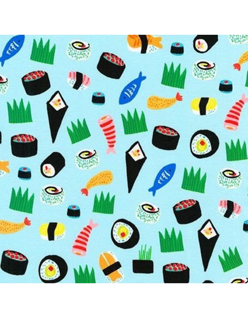 PD's Hello!Lucky Collection Hello Lucky, Sushi in Blue, Dinner Napkin