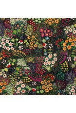 Alexander Henry Fabrics Wilderberry, Haus in Chocolate, Fabric Half-Yards 8748B