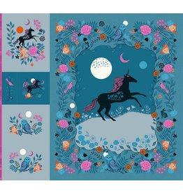 "Sarah Watts Crescent, Magic Unicorn Panel, 99"" x 108"" Fabric Panel RS2010P"