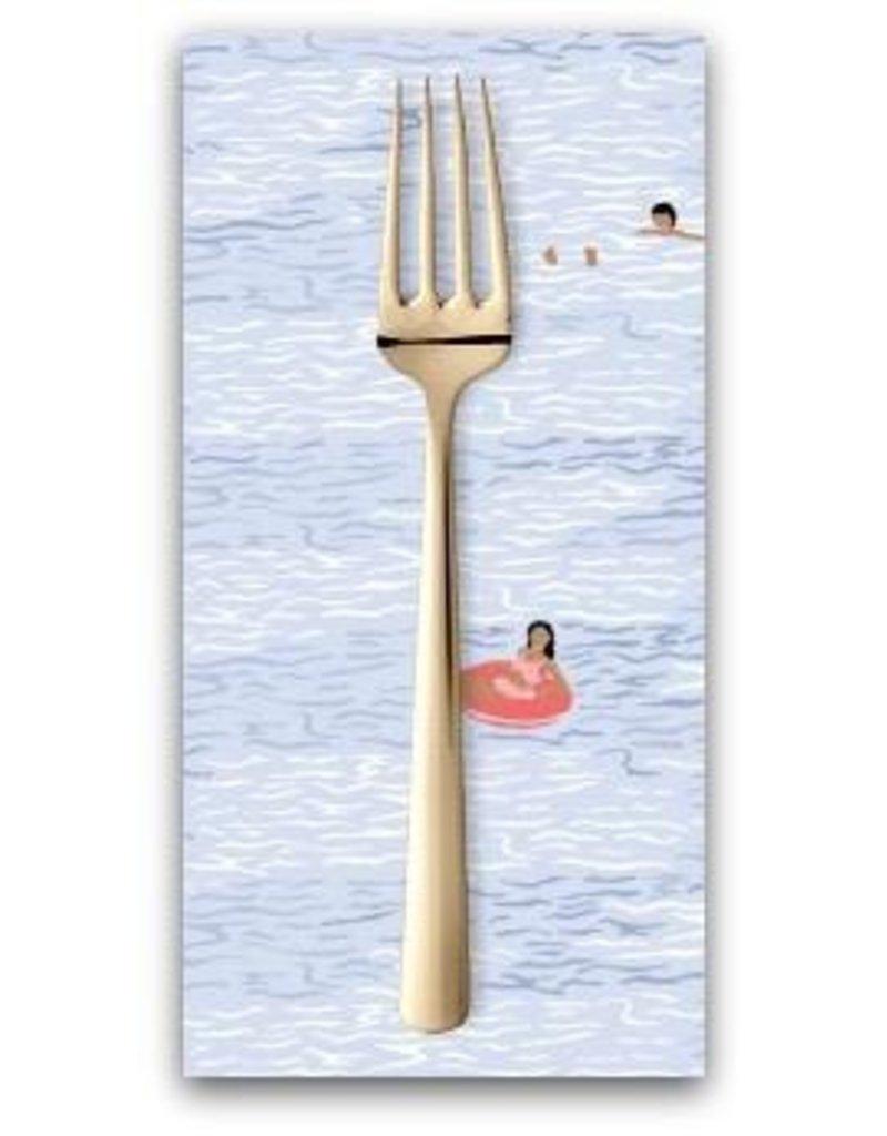 PD's Dear Stella Collection Bite Me, Ocean Swimmers In Multi, Dinner Napkin