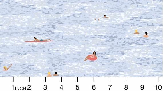 Dear Stella Bite Me, Ocean Swimmers in Multi, Fabric Half-Yards STELLA-1340