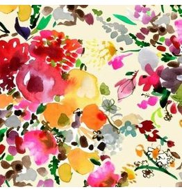 August Wren Spice Things Up, Floral Bouquets in Multi, Fabric Half-Yards STELLA-DAW1199