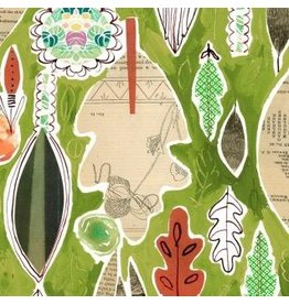 August Wren Spice Things Up, Leaf Collage in Multi, Fabric Half-Yards STELLA-DAW1196