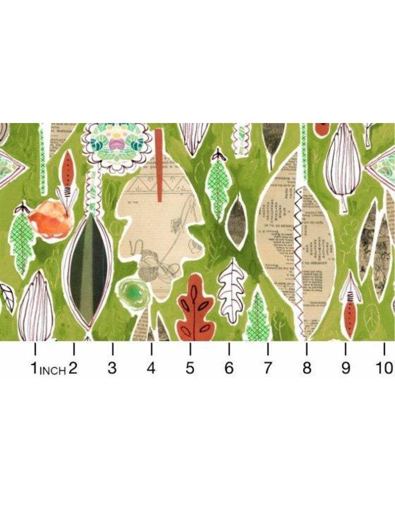 August Wren Spice Things Up, Leaf Collage in Multi, Fabric Half-Yards STELLA-DAW1196