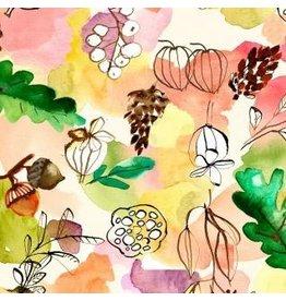 August Wren Spice Things Up, Pod Wash in Multi, Fabric Half-Yards STELLA-DAW1198