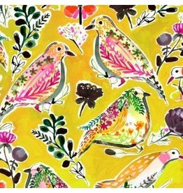 August Wren Spice Things Up, Harvest Birds in Multi, Fabric Half-Yards STELLA-DAW1197