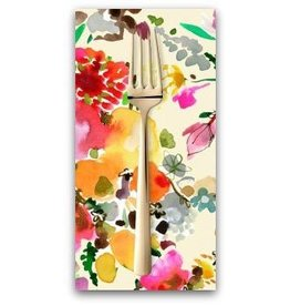 PD's August Wren Collection Spice Things Up, Floral Bouquets in Multi, Dinner Napkin