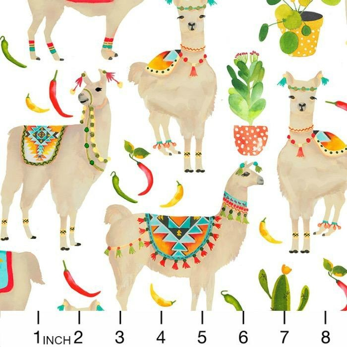 PD's Timeless Treasures Collection West, Llamas in White, Dinner Napkin