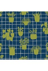 PD's Sarah Golden Collection Home, House Plants in Cobalt, Dinner Napkin