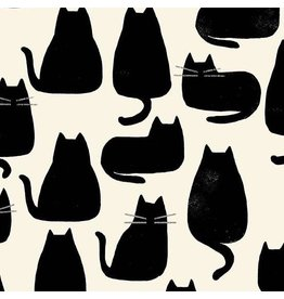 Sarah Golden Home, Whiskers in Chat Noir, Fabric Half-Yards A-9168-K